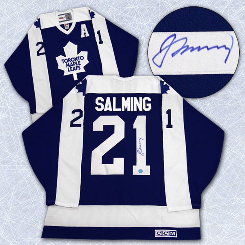Borje Salming Toronto Maple Leafs Autographed Retro CCM Hockey Jersey