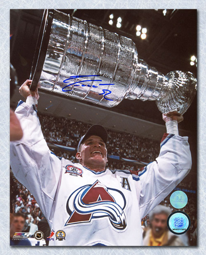 Adam Foote Colorado Avalanche Autographed Stanley Cup 8x10 Photo