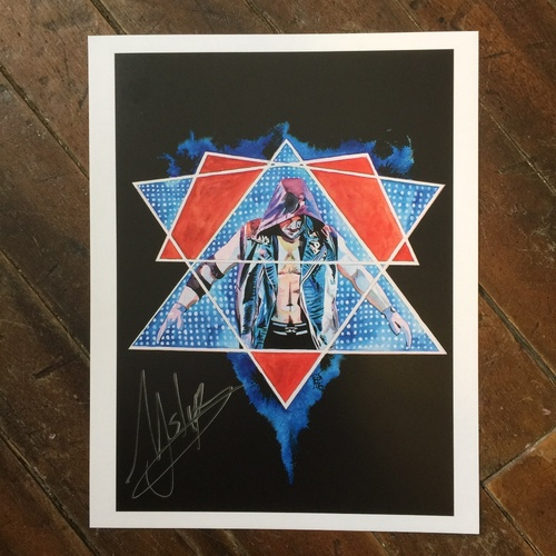 "Photo of AJ Styles SIGNED 11"" x 14"" Rob Schamberger Print"