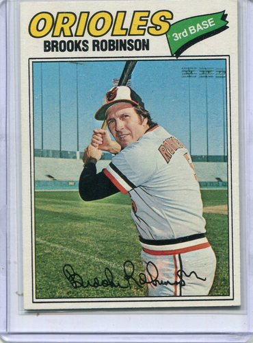 Photo of 1977 Topps #285 Brooks Robinson -- Hall of Famer