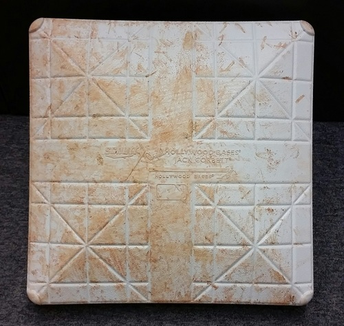 Photo of Authenticated Game Used 2nd Base from Sept 22, 2015 vs New York Yankees - Used innings 1-5