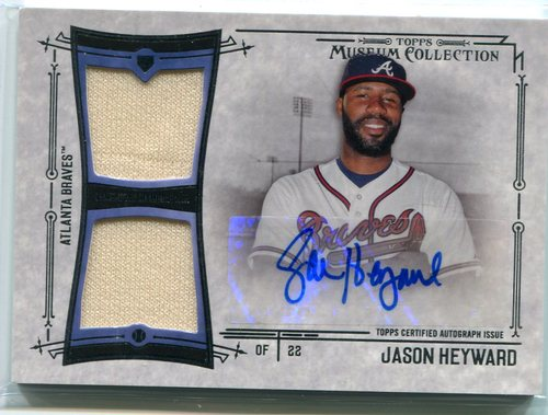 Photo of 2015 Topps Museum Collection Signature Swatches Dual Relic Jason Heyward 39/75