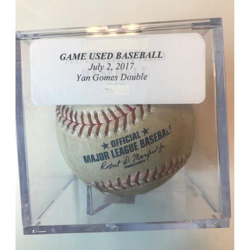 Game-Used Baseball: Yan Gomes Double