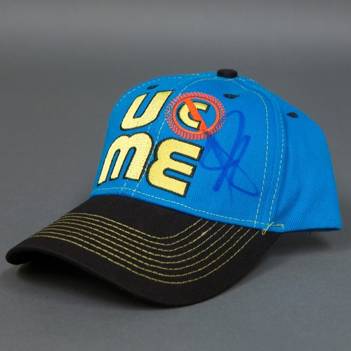 "Photo of John Cena SIGNED ""Throwback"" Baseball Hat"