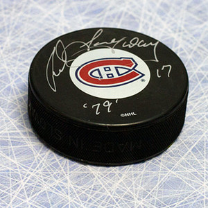 Rod Langway Montreal Canadiens Autographed Hockey Puck