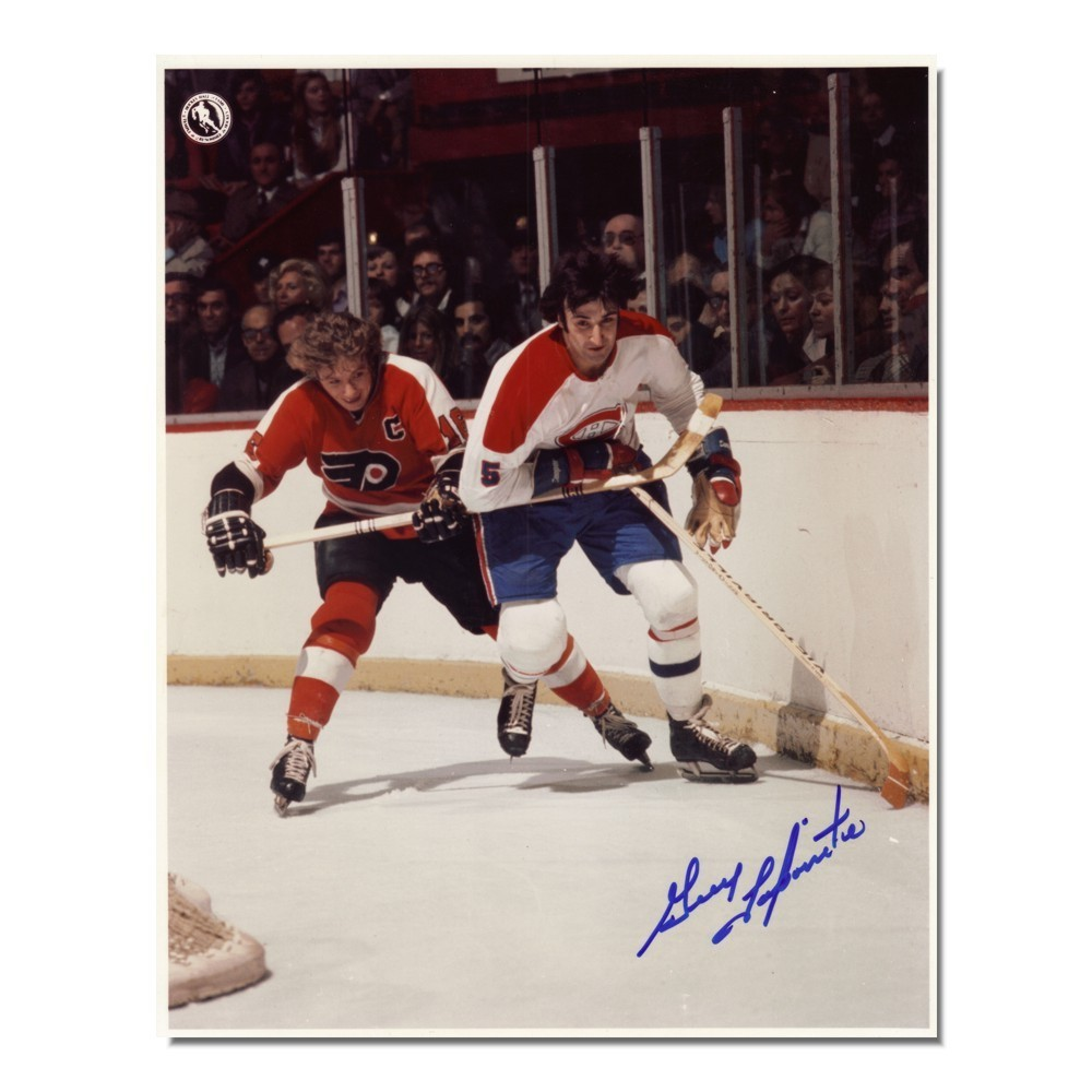 Guy Lapointe Autographed Montreal Canadiens 8x10 Photo