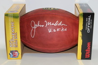 HOF - RAIDERS JOHN MADDEN SIGNED AUTHENTIC FOOTBALL