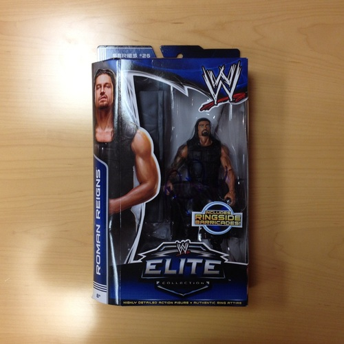 SIGNED Roman Reigns Elite Series 26 Action Figure