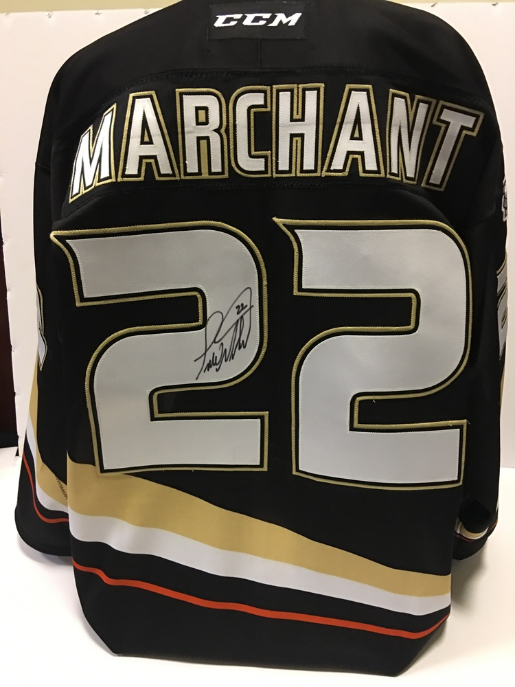 10th Anniversary Celebration Pre-Game Worn #22 Todd Marchant Autographed Home Jersey