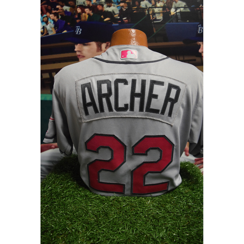 Photo of Game-Used Mother's Day Jersey: Chris Archer