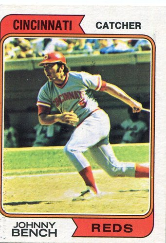 Photo of 1974 Topps #10 Johnny Bench -- Hall of Famer