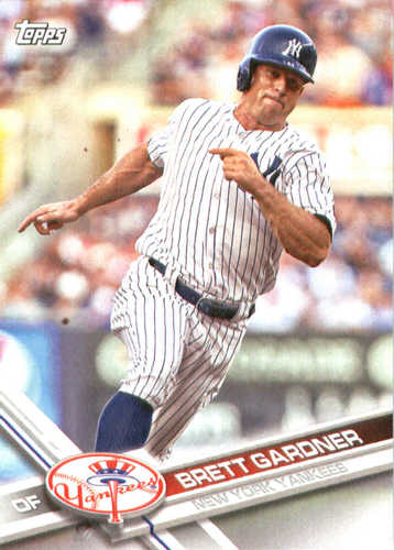 Photo of 2017 Yankees Topps #NYY11 Brett Gardner