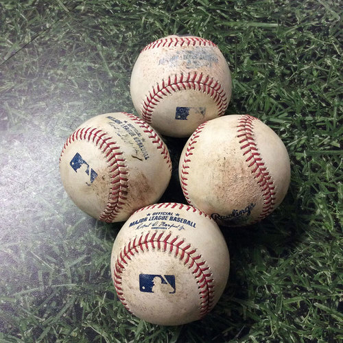 Photo of Game-Used  Baseball PHI@MIL 07/15/17 - Jimmy Nelson Game-Used Strikeout Baseballs (4)