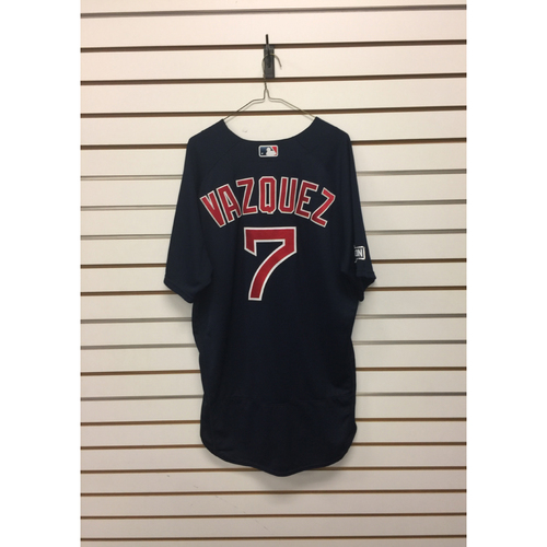 Photo of Christian Vazquez Game-Used October 6, 2016 Road Alternate Jersey