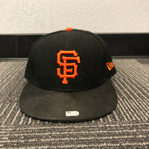 Photo of San Francisco Giants - HOLIDAY STEALS - 2017 Game-Used Cap - Regular Season - worn by #63 Ryder Jones on 6/24/17 - MLB DEBUT - (Size: 7 1/8)