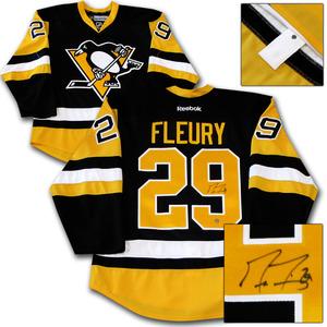 Marc-Andre Fleury Autographed Pittsburgh Penguins Authentic Pro Jersey
