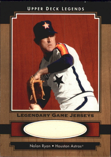 Photo of 2001 Upper Deck Legends Legendary Game Jersey #JNR Nolan Ryan