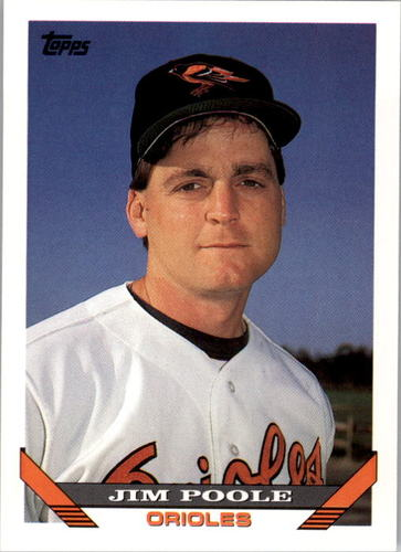 Photo of 1993 Topps #793 Jim Poole