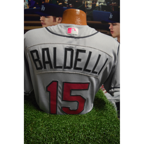 Photo of Game-Used Mother's Day Jersey: Rocco Baldelli
