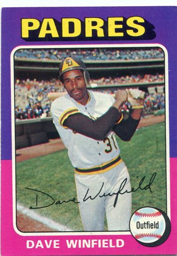 Photo of 1975 Topps #61 Dave Winfield -- Hall of Famer