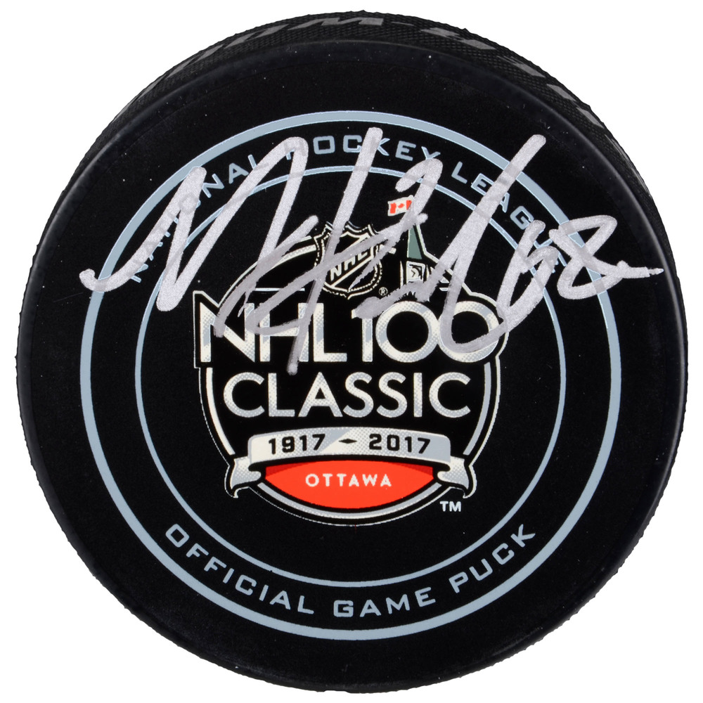 Mike Hoffman Ottawa Senators Autographed NHL100 Classic Official Game Puck
