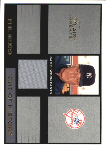 Photo of 2003 Flair Greats Cut of History Game Used #18 Phil Niekro Pants
