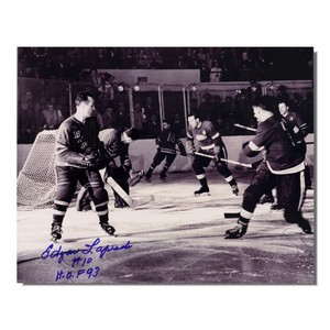 Edgar Laparad (deceased)  Autographed New York Rangers 8x10 Photo