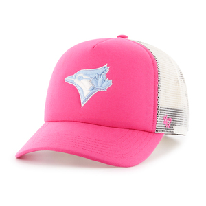 Youth Barlow Mesh Snapback Cap Pink/White by '47 Brand
