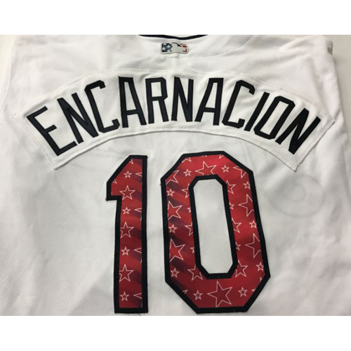 Photo of Edwin Encarnacion Game Worn Stars & Stripes Jersey