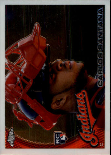 Photo of 2010 Topps Chrome #198 Carlos Santana Rookie Card -- Indians post-season