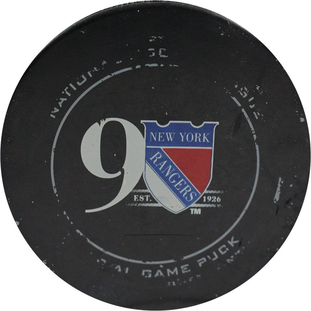 New York Rangers v Canucks 11/8/2016 Game Used Goal Puck (Goal By Burrows)