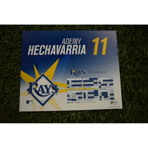 2017 Team-Issued Locker Tag - Adeiny Hechavarria