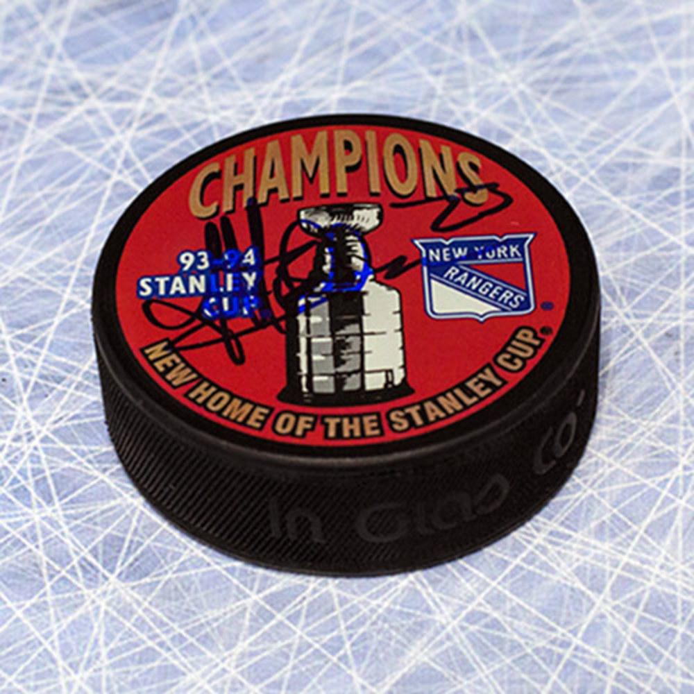 Jeff Beukeboom New York Rangers Autographed 1994 Stanley Cup Puck