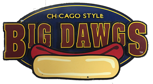 Photo of Wrigley Field Collection - 'Chicago Style Big Dawgs' Concourse Sign  - JB097774