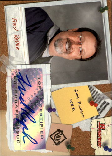Photo of 2009 Bowman Major League Scout Autographs #SCFR Fred Repke
