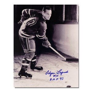 Edgar Laprade (deceased) Autographed New York Rangers 8x10 Photo