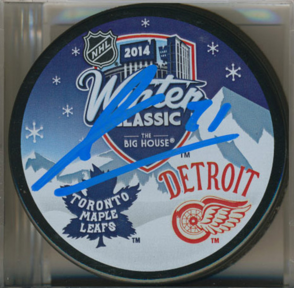JAMES VAN RIEMSDYK Toronto Maple Leafs AUTOGRAPHED 2014 Winter Classic Puck