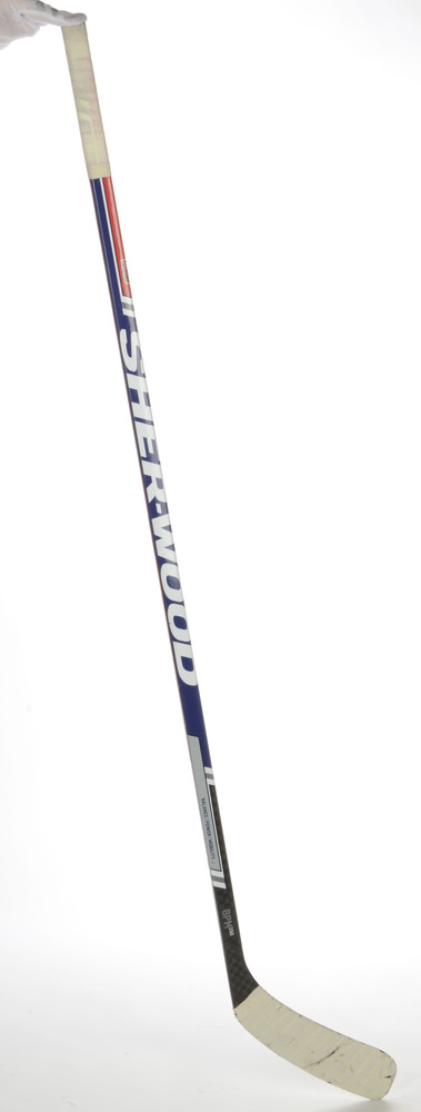 Tomas Plekanec Montreal Canadiens Team Czech Republic World Cup of Hockey 2016 Tournament-Used  Sherwood BPM 150 Hockey Stick