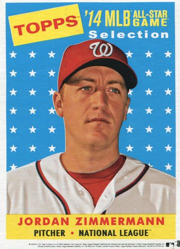 Photo of 2014 Topps 5x7 All-Star Selection Jordan Zimmermann -- Part of exclusive Minneapolis FanFest set