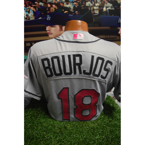Photo of Game-Used Mother's Day Jersey: Peter Bourjos