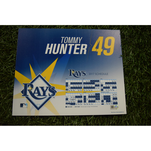 Photo of 2017 Team-Issued Locker Tag - Tommy Hunter