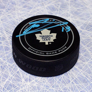 Mats Sundin Toronto Maple Leafs Autographed Official NHL Game Puck