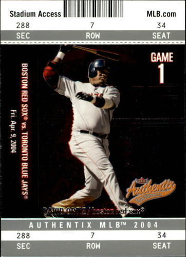 Photo of 2004 Fleer Authentix #93 David Ortiz