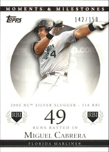 Photo of 2007 Topps Moments and Milestones #110-49 Miguel Cabrera/RBI 49