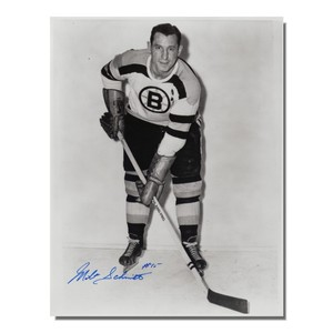 Milt Schmidt Autographed Boston Bruins 8x10 Photo