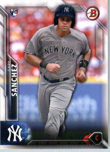 Photo of 2016 Bowman #143 Gary Sanchez Rookie Card -- Yankees post-season