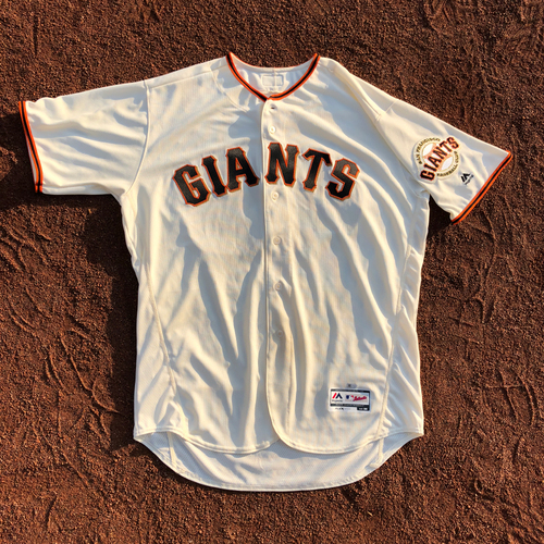 Photo of San Francisco Giants - HOLIDAY STEALS - 2017 Game-Used Jersey - worn by #40 Madison Bumgarner on 8/9/2017 - 7.0 IP, 1 ER, 7 K's, WIN - (Size: 50)