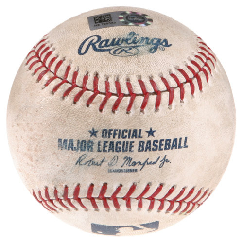 Ferrell Takes The Field Auction: Game-Used Baseball - LAA vs. CHC, Top 4, Pitcher: Zach Stewart, Batter: Will Ferrell - Strikeout Swinging - HZ729333