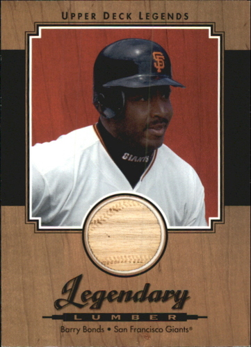 Photo of 2001 Upper Deck Legends Legendary Lumber #LBB Barry Bonds DP