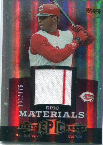 Photo of 2006 Upper Deck Epic Materials Red #KG2 Ken Griffey Jr. Jersey 151/175